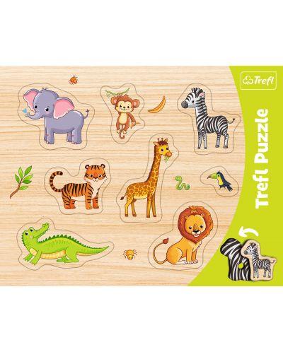 Детски пъзел Trefl - Диви животни - 1