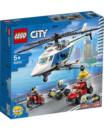 Конструктор Lego City Police - Полицейско преследване с хеликоптер (60243) - 1