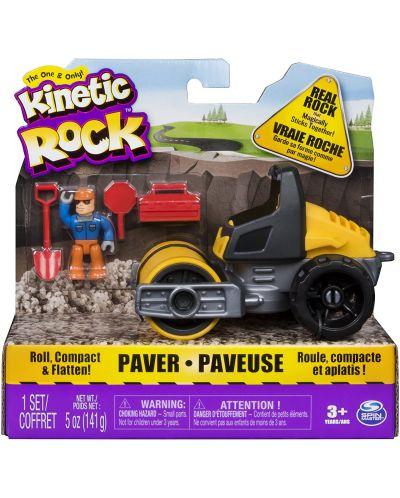 Игрален комплект с кинетичен пясък Kinetic Rock - Пътностроителна техника - 1