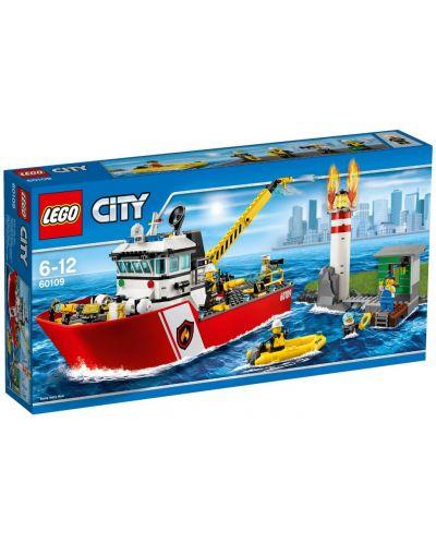 Конструктор Lego City - Пожарникарска лодка (60109) - 1