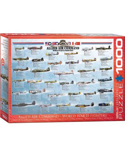 Пъзел Eurographics от 1000 части –  Съюзнически изтребител от Втората световна война - 1