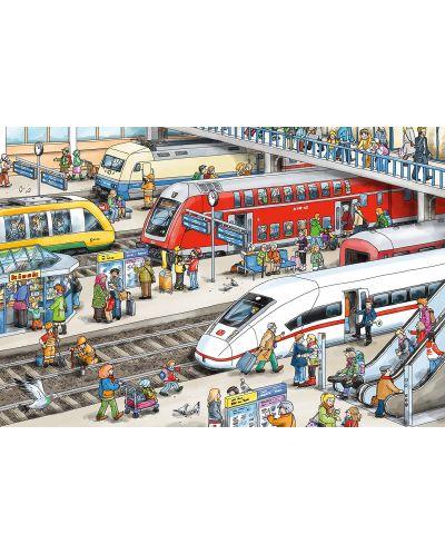 Пъзел Schmidt от 60 части - На жп гарата, с аксесоар за багаж - 2