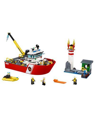 Конструктор Lego City - Пожарникарска лодка (60109) - 4