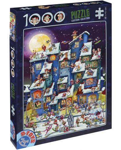 Пъзел D-Toys от 1000 части – Дядо Коледа - 1