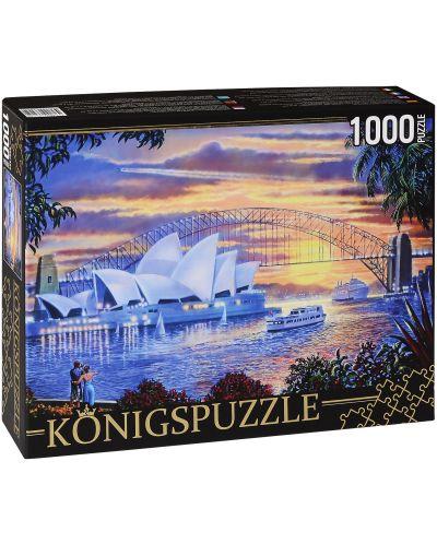 Пъзел Königspuzzle от 1000 части - Операта в Сидни - 1