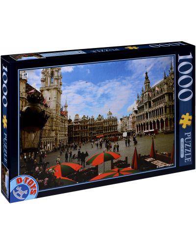 Пъзел D-Toys от 1000 части - Брюксел, Белгия - 1