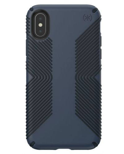 Калъф Speck - Presidio Grip, за iPhone XS, eclipse blue/carbon black - 1