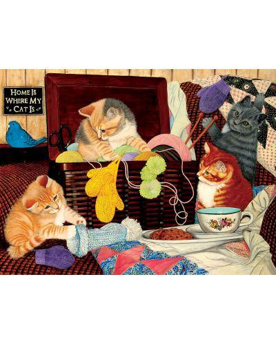 Пъзел SunsOut от 1000 части - Домът е там, където е котката ми, Джули Баукнехт - 1