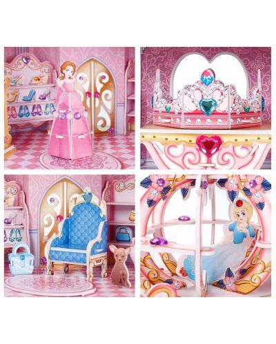 3D Пъзел Cubic Fun от 92 части - Тайната градина на принцесата, с 493 камъчета - 3