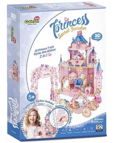 3D Пъзел Cubic Fun от 92 части - Тайната градина на принцесата, с 493 камъчета - 5