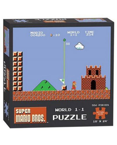 Колекционерски пъзел USAopoly от серията Super Mario World 1 – 550 части - 1