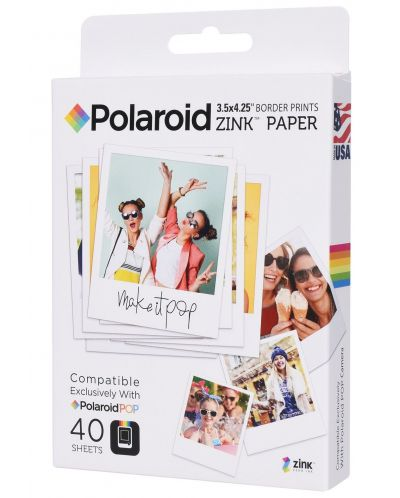 Хартия Zink 3x4 inch Media - 40 pack - 1
