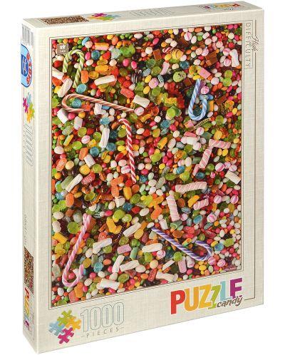 Пъзел D-Toys от 1000 части – Сладкиши - 1