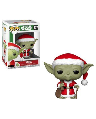 Фигура Funko Pop! Star Wars: Holiday Santa Yoda (Bobble-Head), #277 - 2