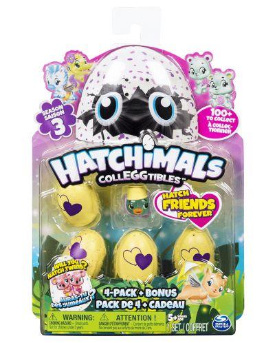 Фигурки-изненада Spin Master Hatchimals - Сезон 3, 4 животинчета, с бонус - 1