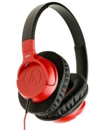 Слушалки Audio-Technica - ATH-AX1iS, червени - 2