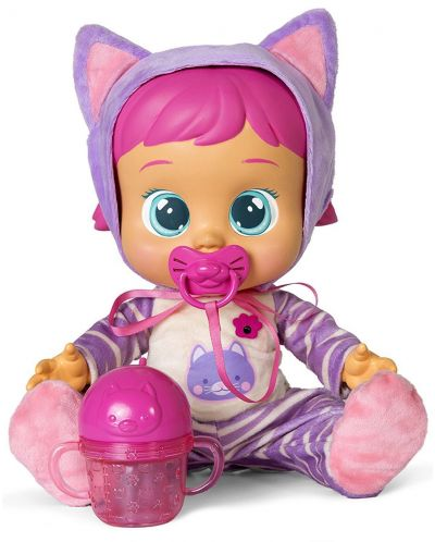 Плачеща кукла със сълзи IMC Toys Cry Babies - Кейти, с шише за вода - 1
