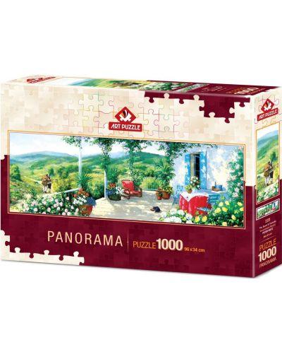 Панорамен пъзел Art Puzzle от 1000 части - Гост във Веранда - 1
