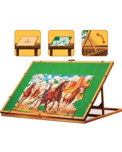 Дървена стойка за подреждане на пъзели Art Puzzle - До 1500 части - 2