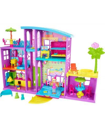 Игрален комплект Mattel Polly Pocket - Парти къща - 3