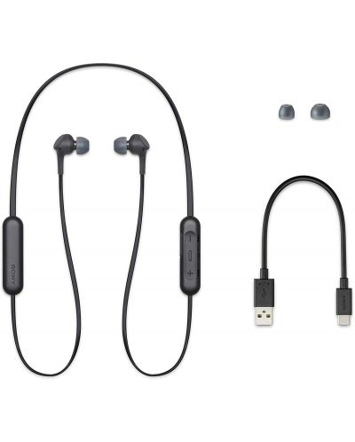 Безжични слушалки Sony - WI-XB400, черни - 3