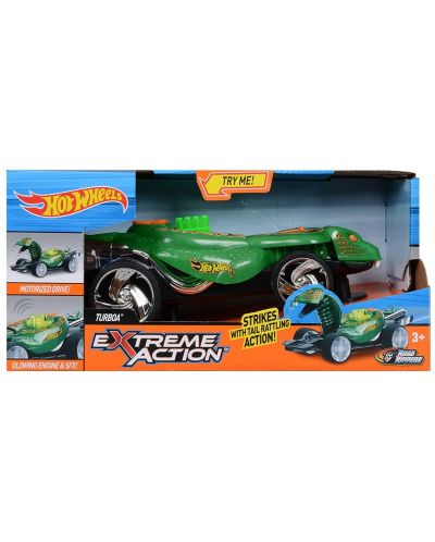 Детска играчка Toy State Hot Wheels - Кола Turboa, змия - 1