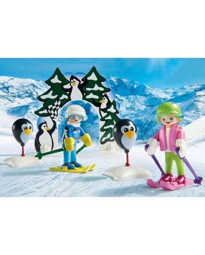 Комплект фигурки Playmobil - Ски урок - 8