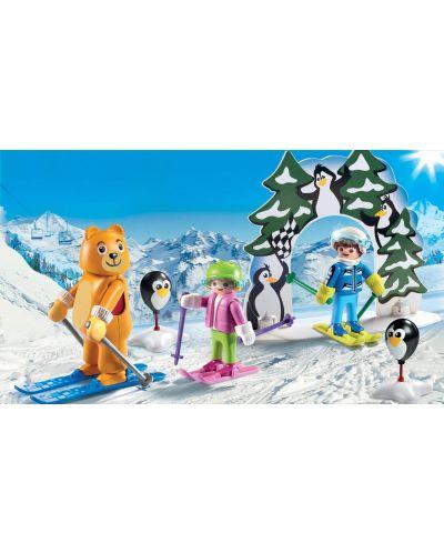 Комплект фигурки Playmobil - Ски урок - 7
