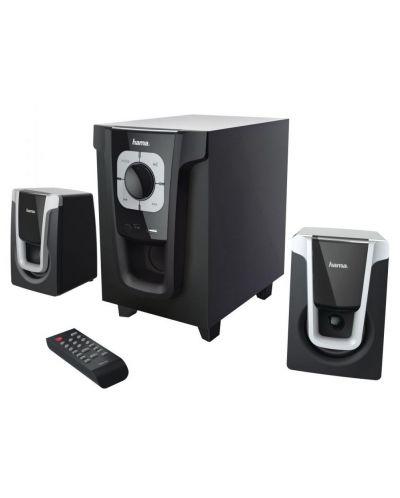 Аудио система HAMA PR-2120 - 2.1, 2x5W+10W, черна - 1