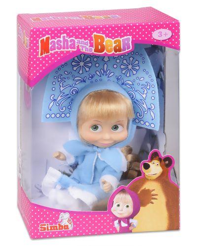 Кукла Simba Toys Маша със синя рокля и диадема, като на Снежанка - 1