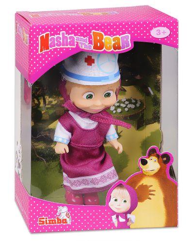 Кукла Simba Toys Маша с розова рокля и лекарска шапка - 1