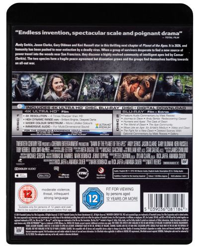 Dawn Of The Planet Of The Apes 4K (Blu Ray) - 2