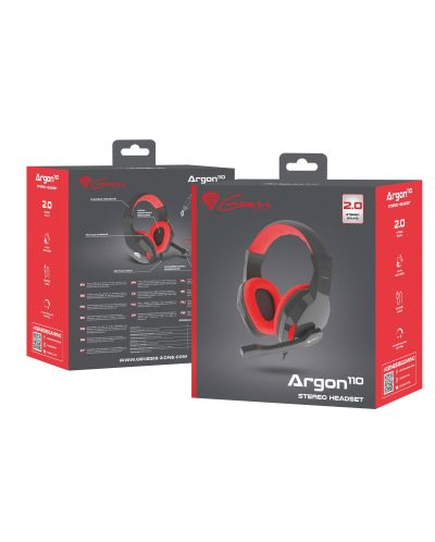 Гейминг слушалки Genesis - Argon 110, черни - 5