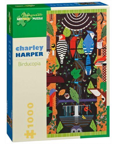 Пъзел Pomegranate от 1000 части - Птицекопия, Чарли Харпър - 1
