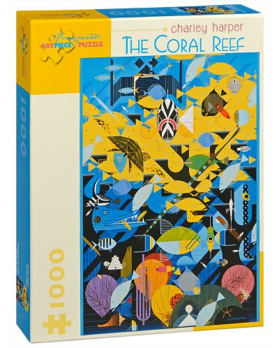 Пъзел Pomegranate от 1000 части - Коралов риф, Чарли Харпър - 1