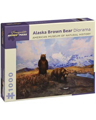 Пъзел Pomegranate от 1000 части - Кафява мечка в Аляска, Сири Шилиос - 1