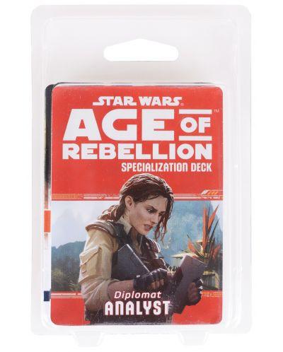 Допълнение за ролева игра Star Wars: Age of Rebellion - Analyst Specialization Deck - 2