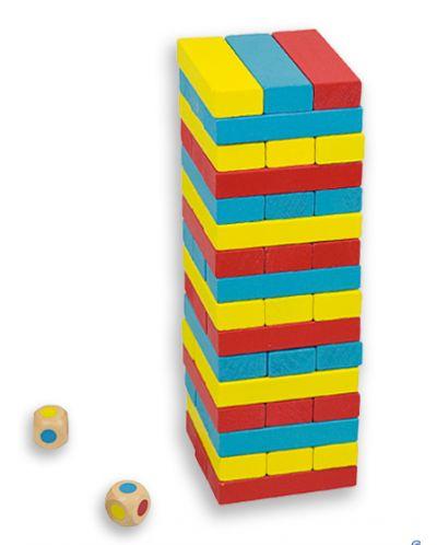 Балансна кула Дженга със зарчета Andreu toys - 1
