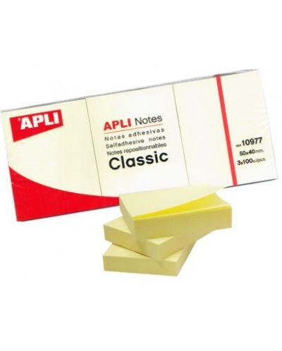 Самозалепващи листчета Apli 38 х 51 mm, 300 броя - 1