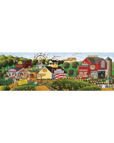 Панорамен пъзел Master Pieces от 1000 части - Фестивал на ябълката, Art Poulin - 2