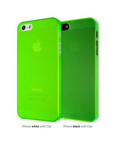 Калъф Artwizz SeeJacket Clip Neon за iPhone 5, Iphone 5s -  зелен - 1