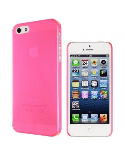 Калъф Artwizz SeeJacket Clip Neon за iPhone 5, Iphone 5s -  розов-прозрачен - 2