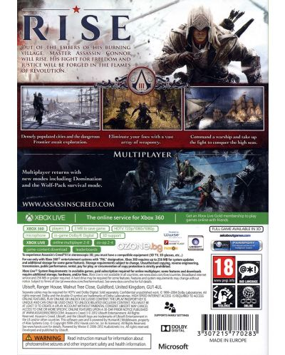 Assassin's Creed III - Classics (Xbox 360) - 3
