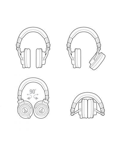 Слушалки Audio-Technica ATH-M50X - черни - 4