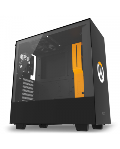 Кутия NZXT - H500 Overwatch Special Edition, Mid-Tower, черна - 1