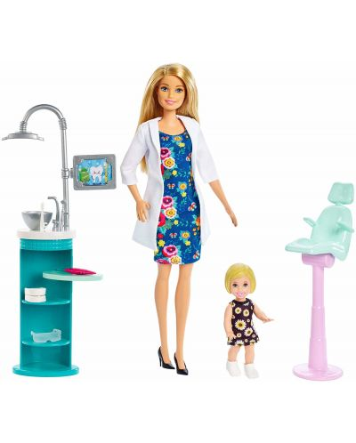 Игрален комплект Mattel Barbie - Зъболекарка - 1