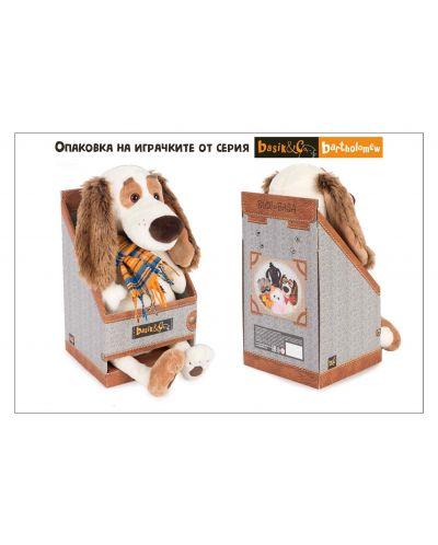 Плюшена играчка Budi Basa - Кученце Бартоломей, с вратовръзка, 33 cm - 5