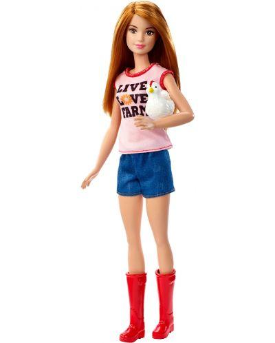 Игрален комплект Mattel Barbie - Фермерка - 3