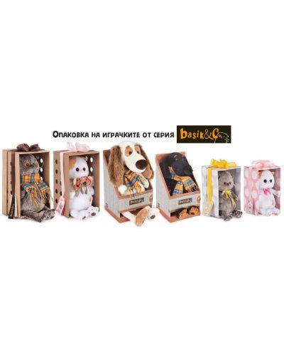 Плюшена играчка Budi Basa - Кученце Бартоломей, с вратовръзка, 33 cm - 6