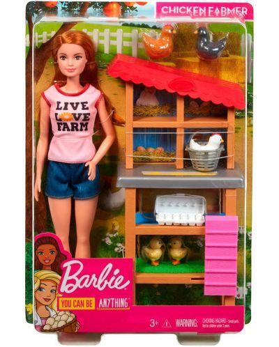 Игрален комплект Mattel Barbie - Фермерка - 9